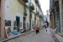 在哈瓦那附近的步行 图库摄影