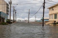 洪水在哈瓦那,古巴 免版税图库摄影