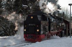 在哈茨山的历史的蒸汽火车 库存照片