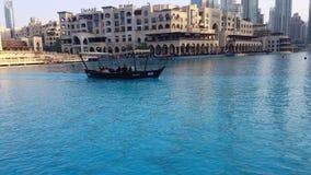 在哈里发塔前面的迪拜 免版税库存照片