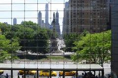 在哥伦布圈子的纽约场面 免版税库存照片