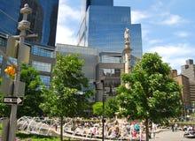在哥伦布圈子,纽约的哥伦布雕象 免版税库存图片