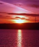 在哥伦比亚河的Sunrsie 图库摄影