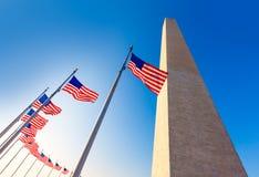 在哥伦比亚特区DC的华盛顿纪念碑 库存图片