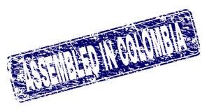 在哥伦比亚装配的难看的东西构筑了被环绕的长方形邮票 库存例证