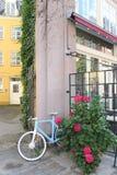 在哥本哈根街道的五颜六色的组合  库存照片