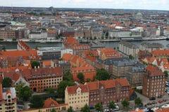 在哥本哈根视图之上 免版税库存照片