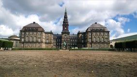在哥本哈根防御Christiansborg在一个夏日 免版税图库摄影