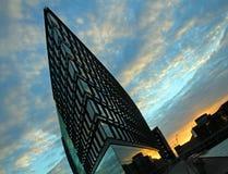 在哥本哈根- Aller大厦的建筑学 免版税库存图片