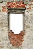 在哥特式城堡的废墟的窗口 库存照片