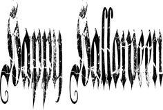 在哥特式字体的愉快的万圣夜 图库摄影
