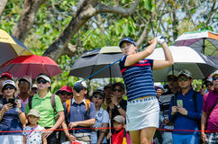在哦韩国的Chun在本田LPGA泰国中2016年 库存照片