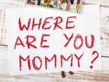 在哪里是您妈妈? 库存图片
