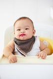 在哺养以后的婴孩 免版税库存照片