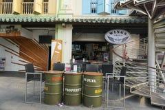 在唐人街的咖啡店在新加坡 库存照片