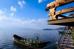 在唔海氏,中国的一条小船 免版税图库摄影