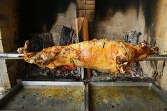 在唾液的烤羊羔 免版税库存图片