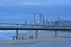 在唾液的英属黄金海岸码头-昆士兰澳大利亚 免版税库存图片