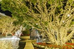 在商城的圣诞节,格伦代尔圆顶场所 库存图片