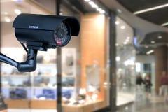 在商城的安全监控相机 免版税库存照片