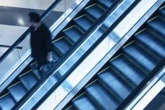 在商城的电梯 免版税库存图片