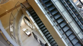 在商城的自动扶梯 影视素材