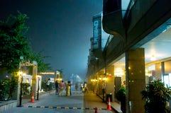 在商城的雾烟雾在德里 免版税库存图片