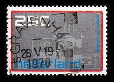 在商展大阪, serie的荷兰pavillion,大约1970年 免版税库存图片