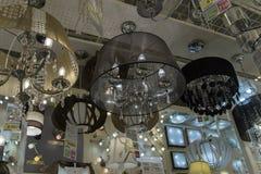 在商店和灯陈列的色泽待售 库存图片