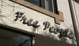 在商店的自由人商标在芝加哥 免版税库存照片