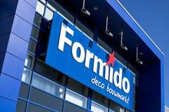 在商店的Formido商标 免版税库存照片