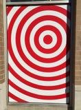 在商店窗口的目标商标在芝加哥 免版税图库摄影