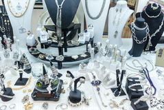 在商店暴露的jewelery 库存照片