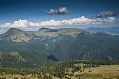 在喀尔巴阡山脉的概略的看法 免版税图库摄影