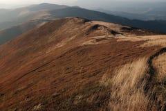 在喀尔巴阡山脉的秋天 库存照片
