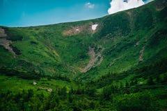 在喀尔巴阡山脉的美好的风景,乌克兰 免版税图库摄影