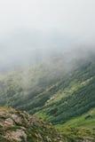 在喀尔巴阡山脉的青山 库存照片