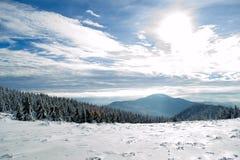 在喀尔巴阡山脉的风景 免版税库存照片