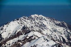 在喀布尔和Ghor之间的山在阿富汗 免版税库存图片