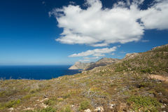 在喀帕苏斯岛,希腊的Llandscape。 库存图片