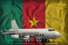 在喀麦隆州旗子背景的轰炸机 3d例证 向量例证