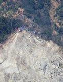 在喜马拉雅山的山崩 免版税库存图片