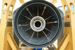 在喷气机后方里面的引擎 库存图片