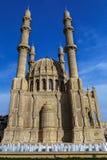 在喷泉后的清真寺 免版税图库摄影