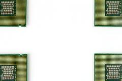 在四个角落的CPU 免版税库存照片