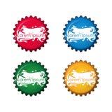 在四种不同颜色的瓶盖 皇族释放例证