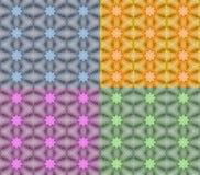 在四种颜色数字式艺术设计柔和的淡色彩的礼品包装材料纸担任主角 免版税库存图片