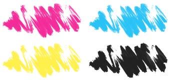 在四种颜色的绘画的技巧 皇族释放例证