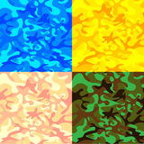 在四集合颜色的伪装样式 库存图片