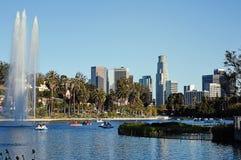 在回声公园,洛杉矶的荷花节 库存图片